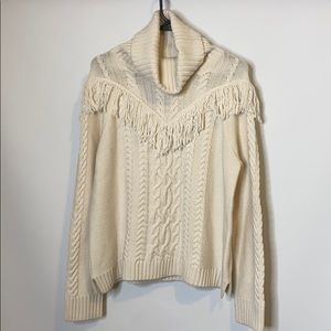 Joie Cowl Neck Wool and Cashmere Sweater